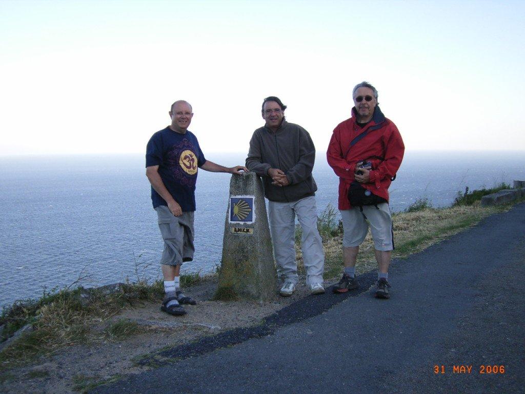 En el Km 0. Finisterre. Camino 2006