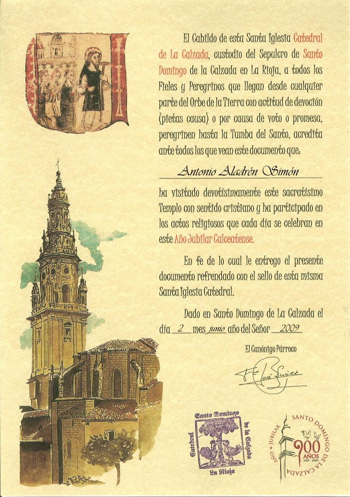 Documento de Santo Domingo de la Calzada