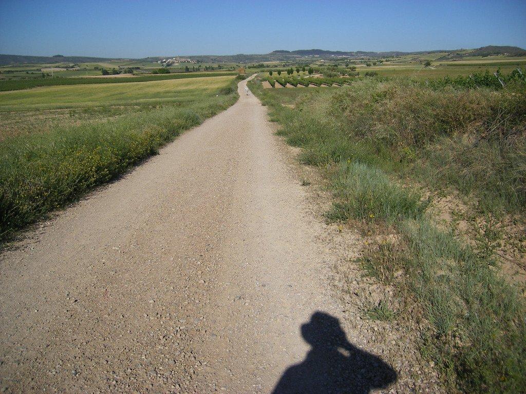 El camino y la sombra del peregrino