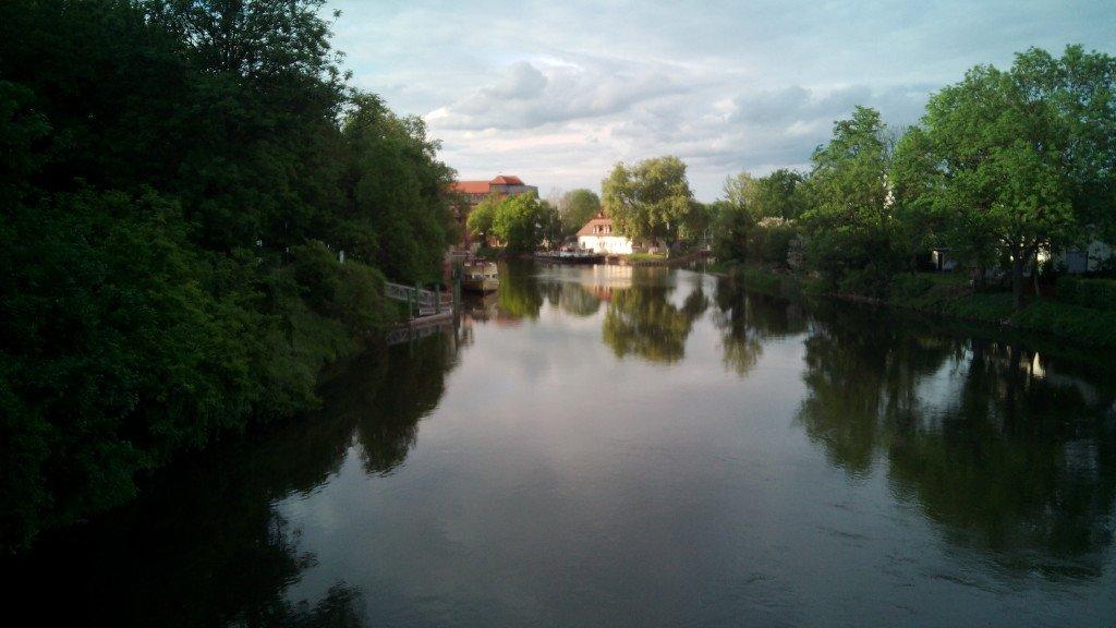 El río Saale, Meseburg