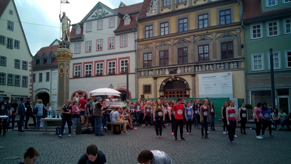Una plaza de Erfurt