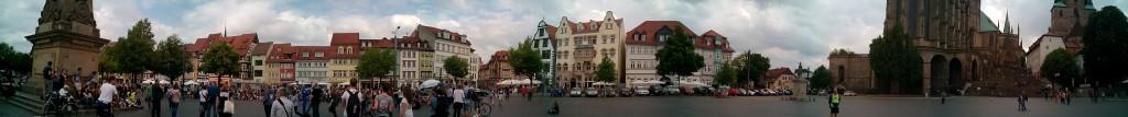 Panorámica de la Plaza del Duomo. Erfurt
