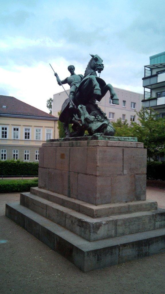 San Jorge, patrón de Aragón, en Eisenach
