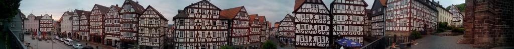 Panorámica de la Plaza del Mercado de Homberg (Efze)