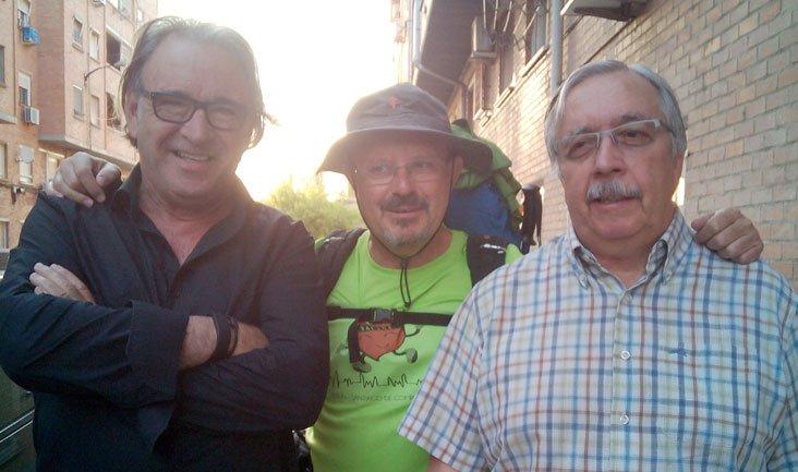 Con mis amigos Manuel y Guillermo