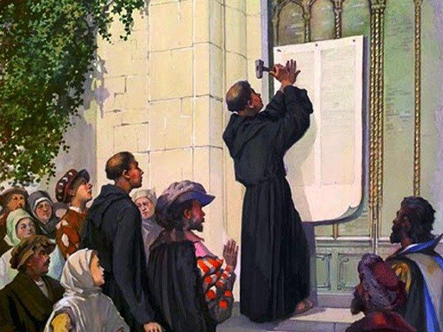 Martín Lutero en una foto antigua