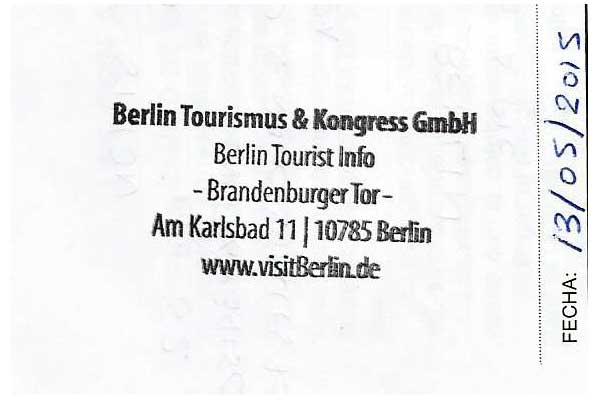 Sello de la oficina de turismo de Berlín