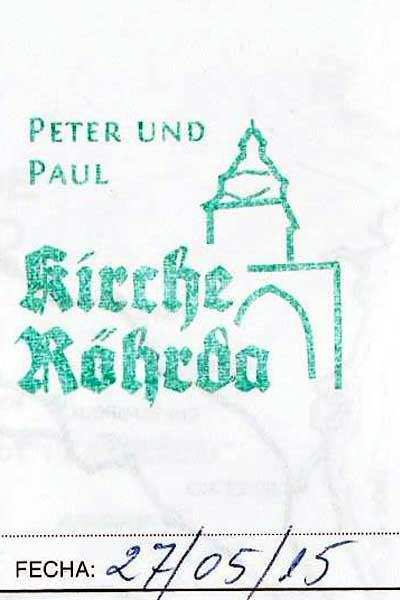 Sello de la iglesia de Röhrda