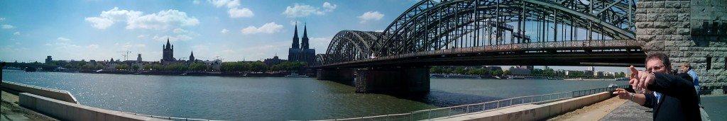 Panorámica desde la otra orilla del Rin