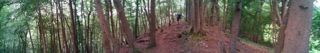 Por la cresta de la montaña