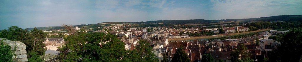 Vista de Château Thierry, desde el Château