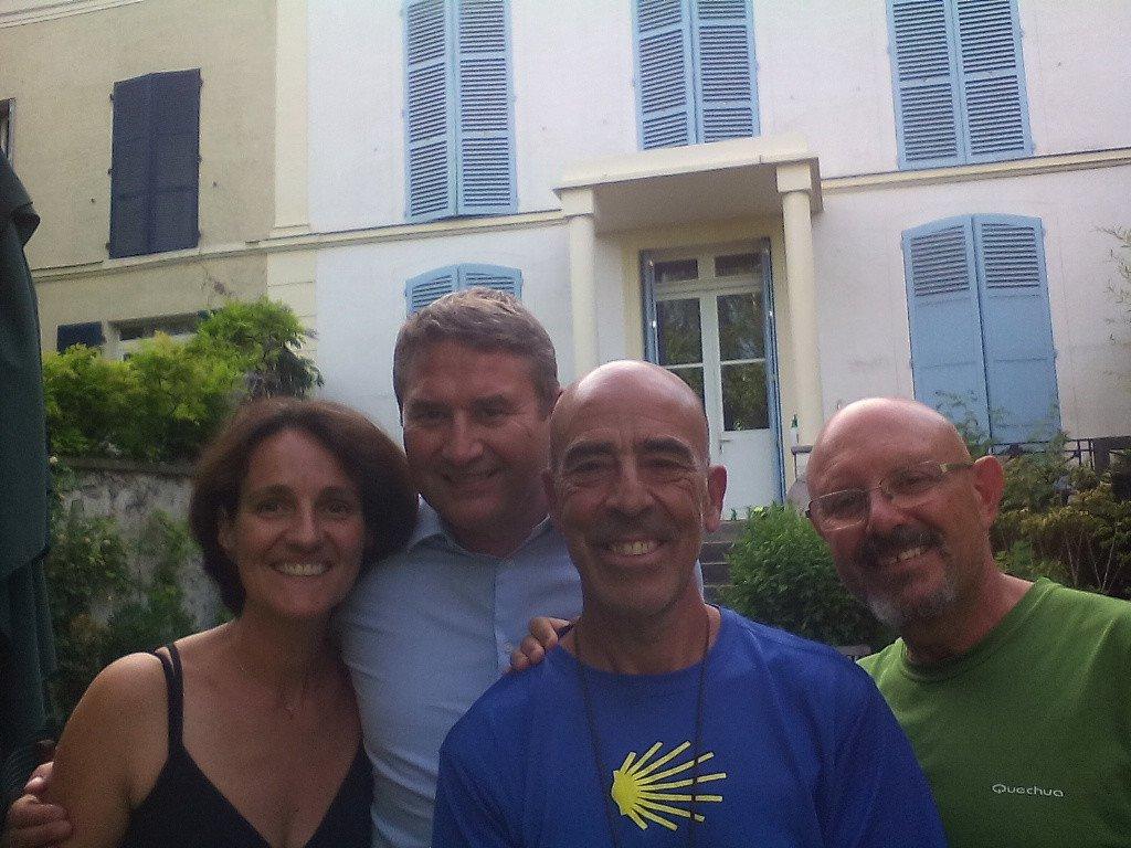 Con Jean y Sandra, en su casa