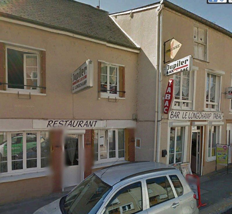 Y éste es el bar-restaurante-tabac-revistas donde hemos comido. Bar Le Longchamp