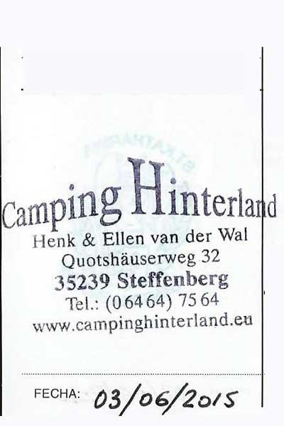 Sello del Camping Hinterland