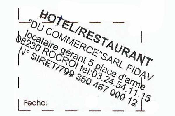 Sello del Restaurante del Comercio