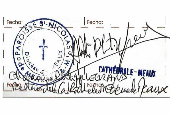 Sello de la Catedral de Meaux