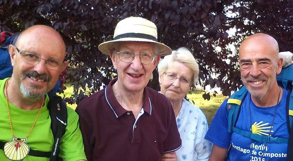 Con Francoise y Bernard