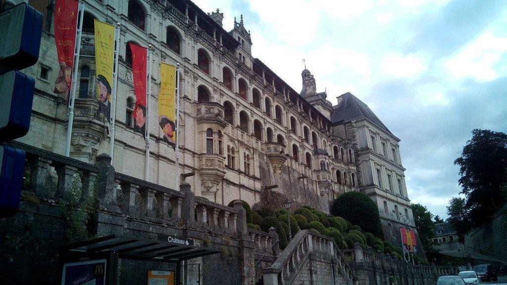 Castillo de Blois. Fachada de las Logias en el ala de Francisco I