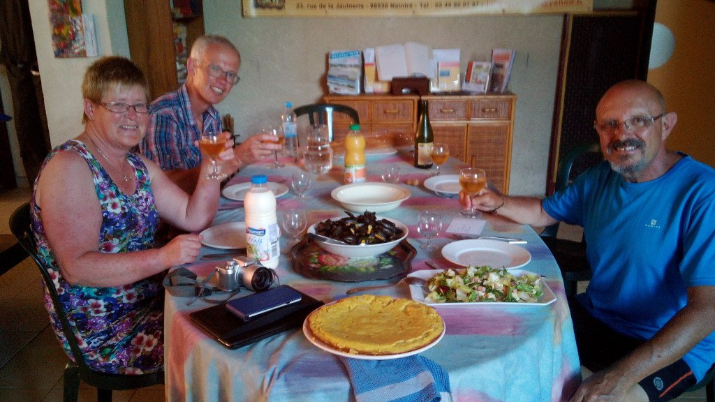 Nuestra cena en Naintré