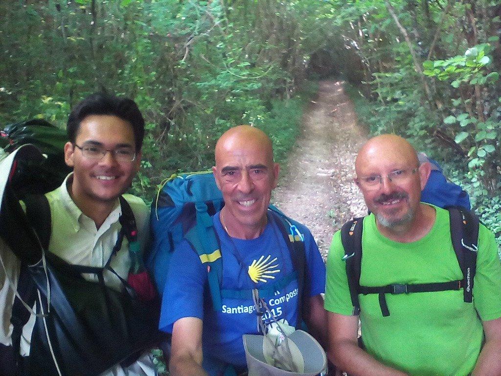 Johann, Salvador y Antonio, peregrinos