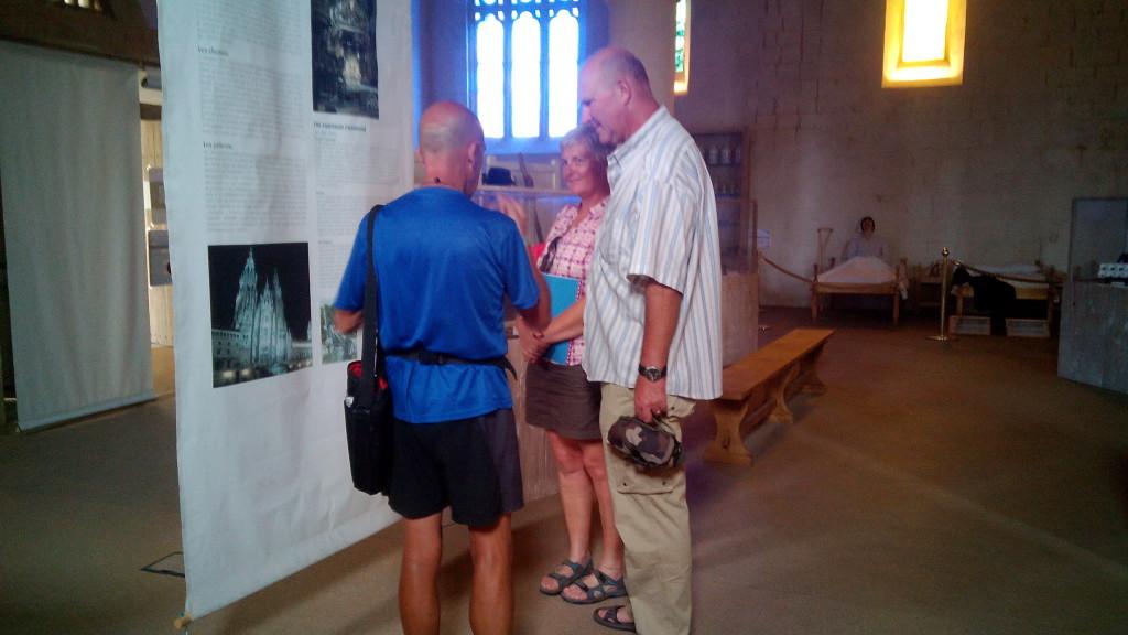Salvador, Vivien y Javier, peregrinos