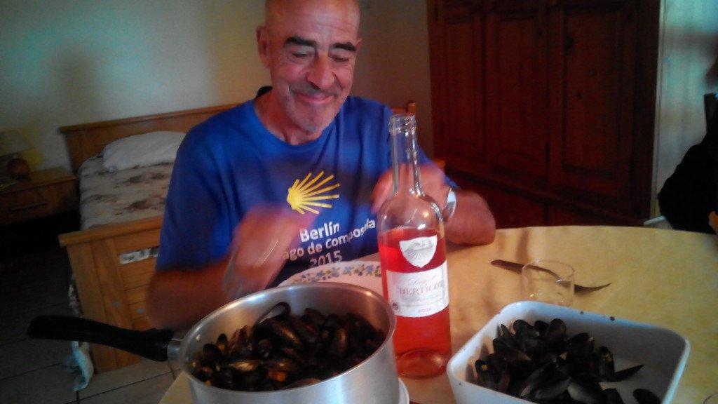 Cenando en Mirambeau