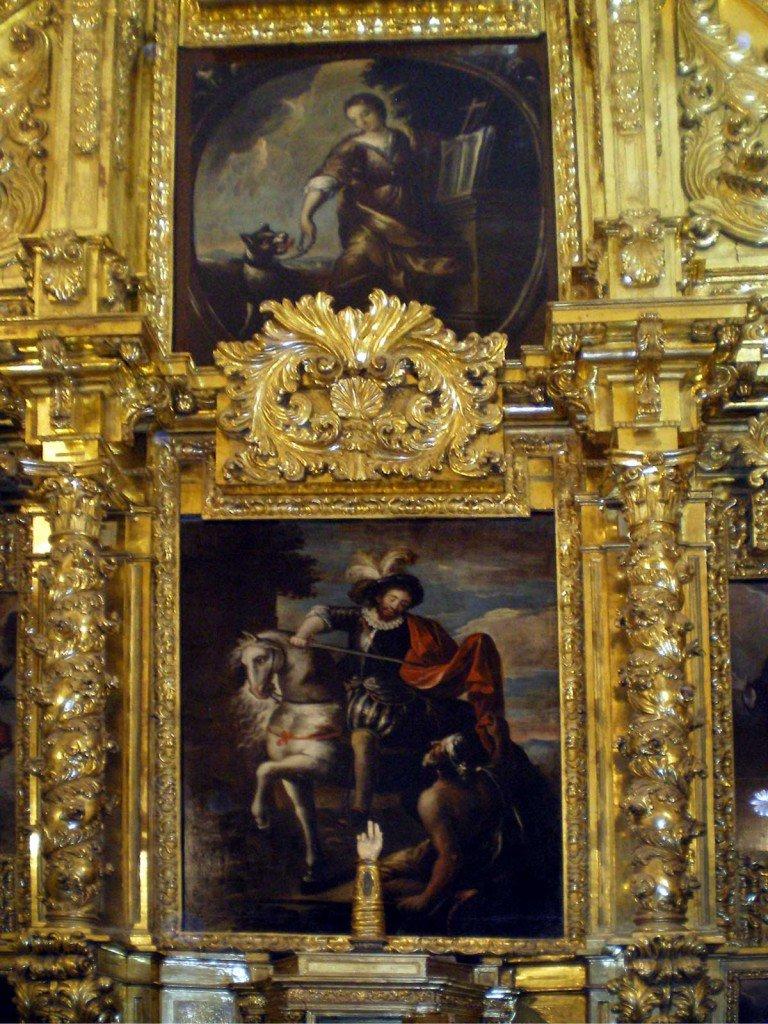 Detalle del Altar Mayor. San Martín de Tours. Salillas de Jalón