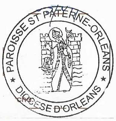 Sello de la Parroquia de St Paterne, Orleans