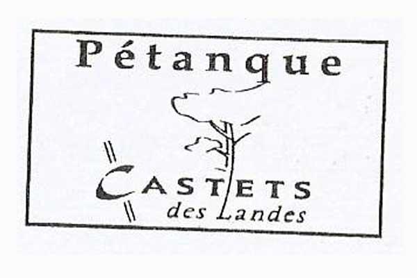 Sello del Club de petanca de Castets