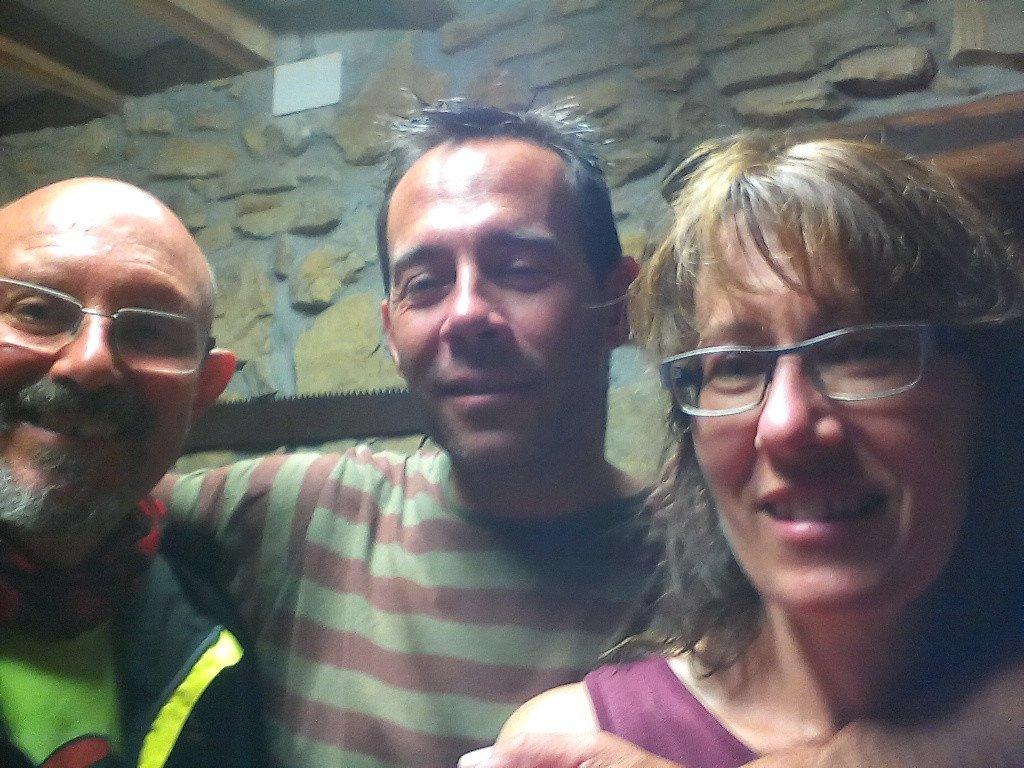 Con Javier y Velena