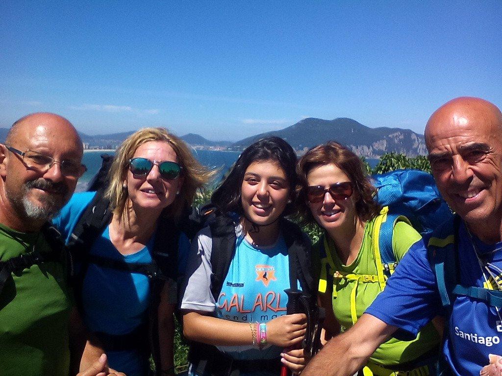 Con Charo, Marta e Itsaso