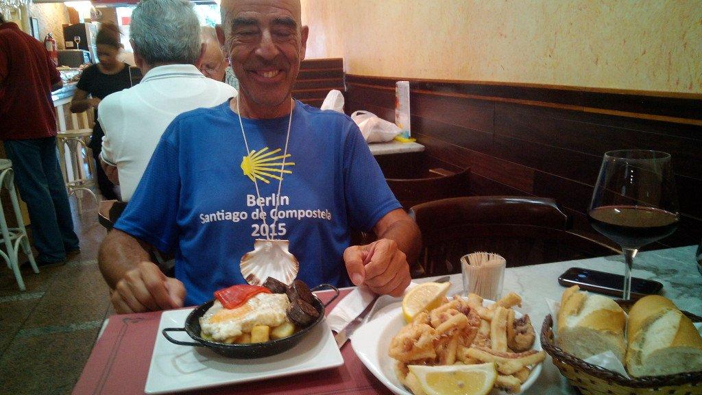 Almorzando en Santander