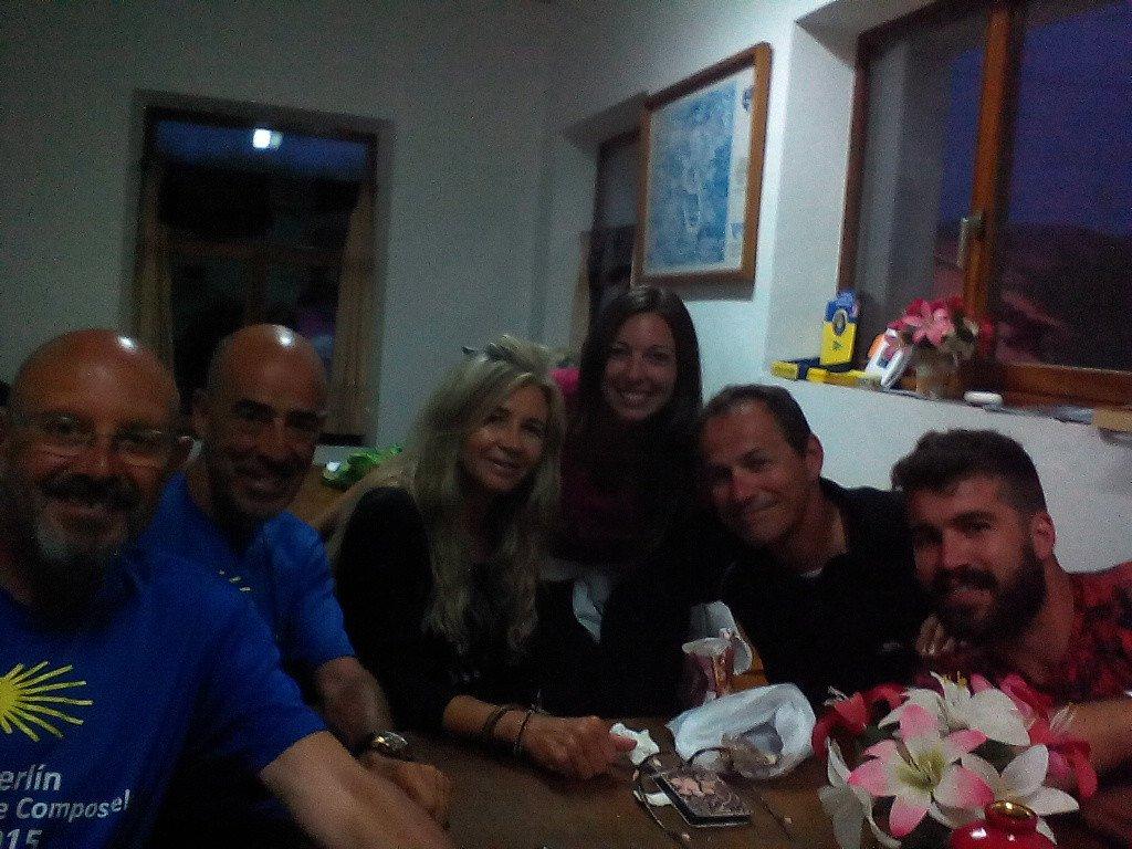 Con unos amigos en La Isla