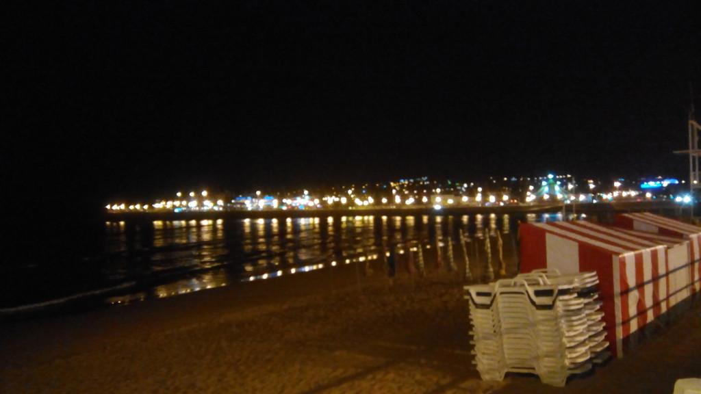 La playa por la noche