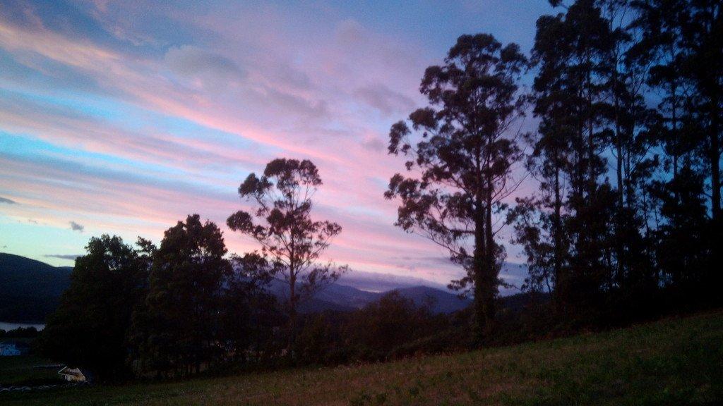 El cielo desde Ribadeo