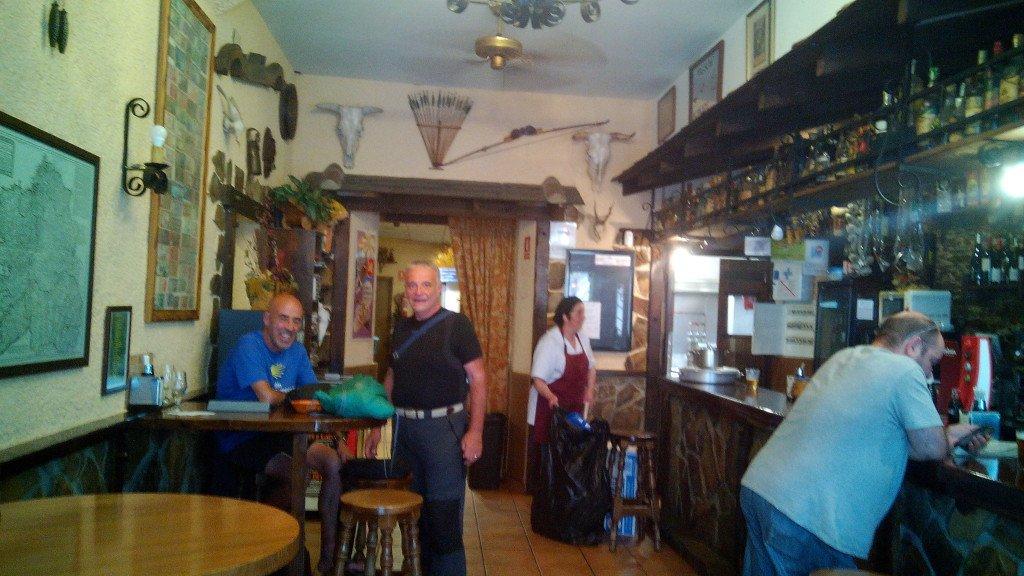 Salvador y Dante en el restaurante O Pipote