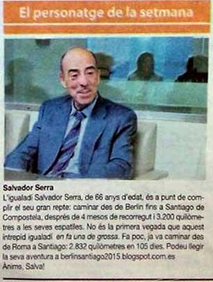 Salvador Serra, personaje de la semana