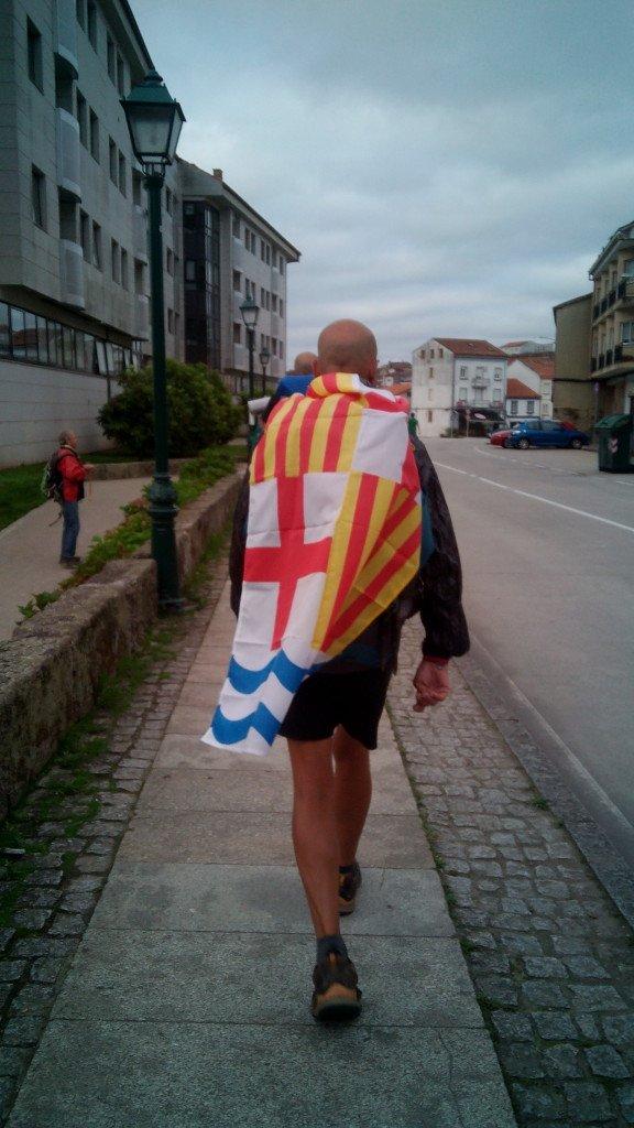 Super Salvador, el igualadino justiciero entrando en Santiago de Compostela