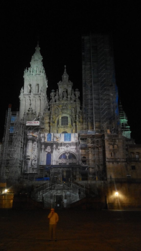 Catedral de Santiago, la nuit.