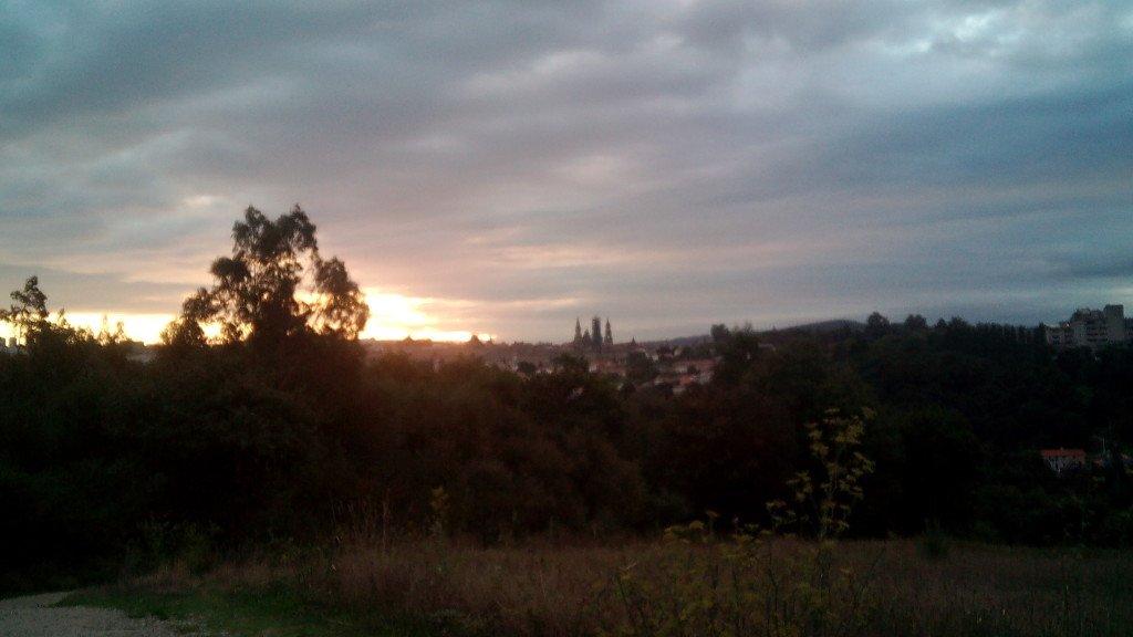 Amanece sobre Santiago de Compostela