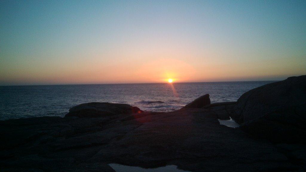 Puesta de sol en Muxía