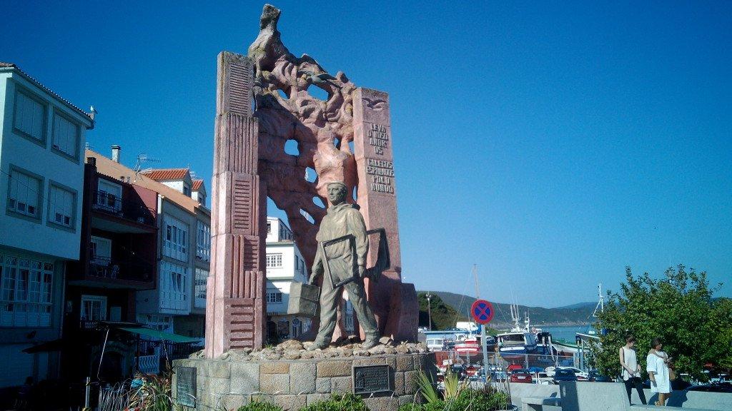 Monumento al Emigrante, en Finisterre