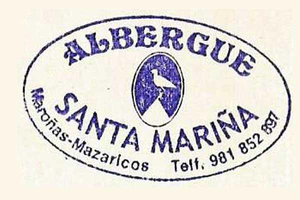 Sello del albergue de Santa Mariña