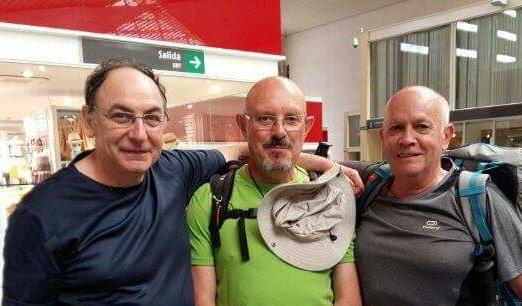 Santos Cruz, Antonio Aladrén y Miglel Ángel Blasco, peregrinos