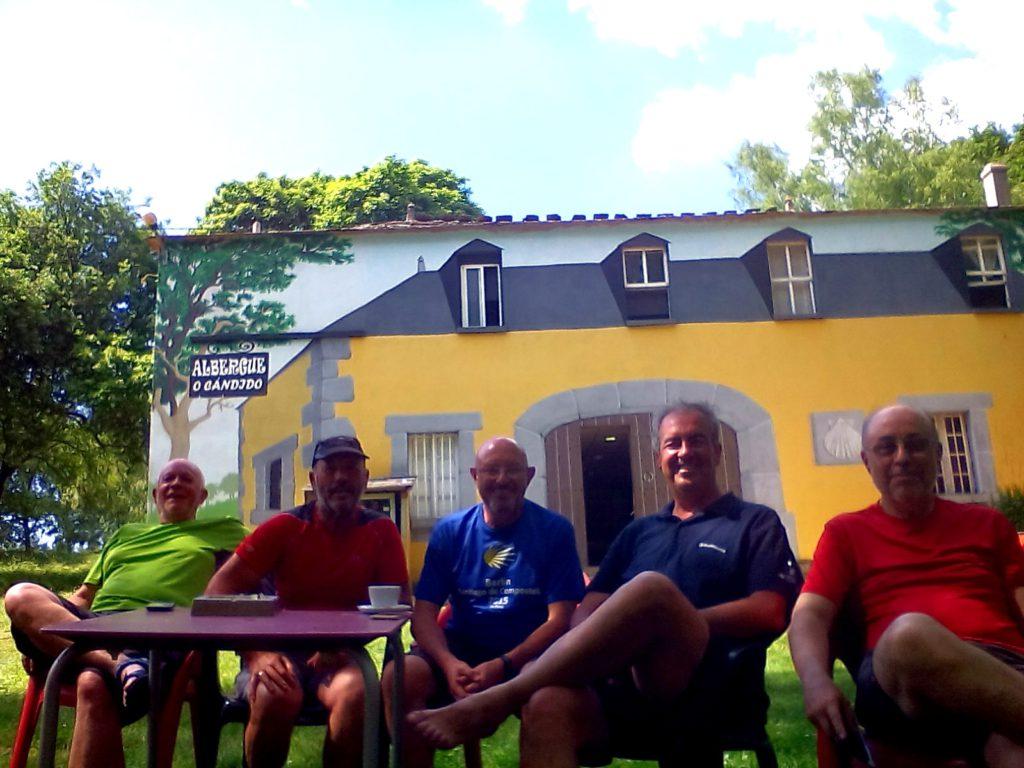 De izda. a dcha. Miguel Ángel, Tano, Antuán, Carlos y Enrique