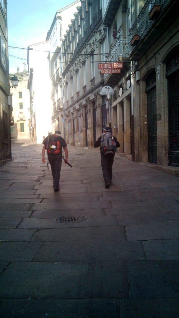 Entrando en Santiago de Compostela
