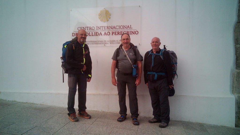 Tres peregrinos. Santiago de Compostela