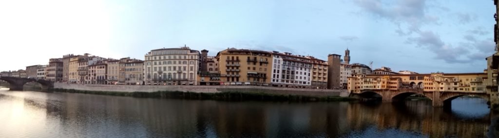 Panorámica del Arno y Ponte Vecchio