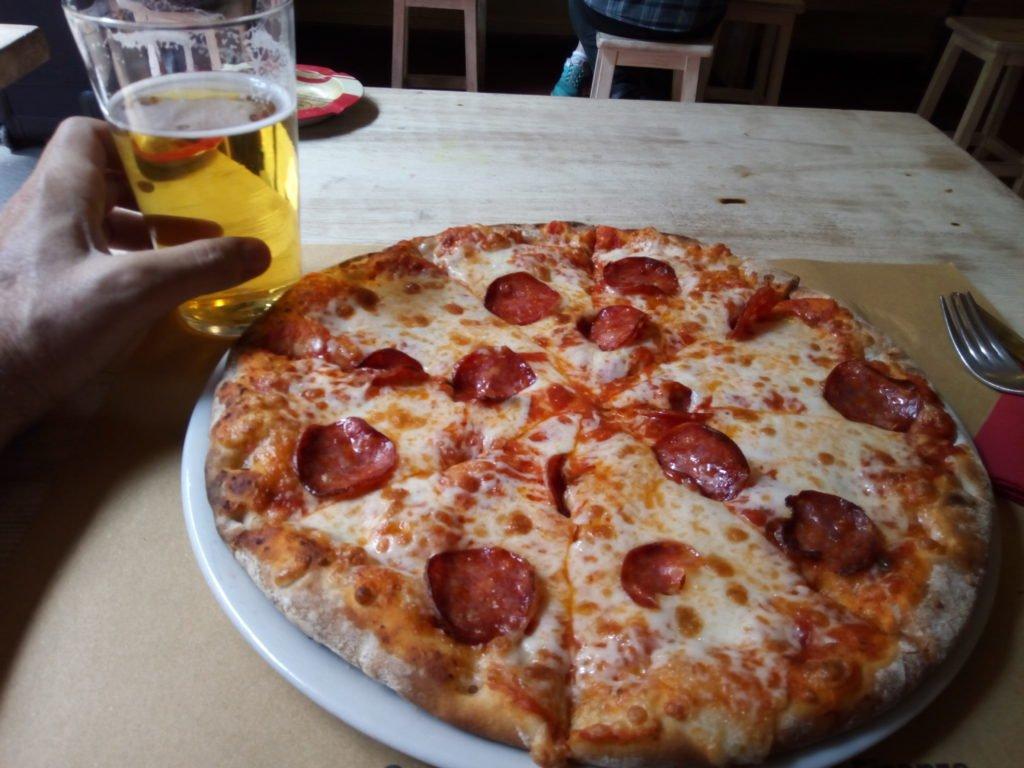 Mi primera pizza en Italia. Diavola