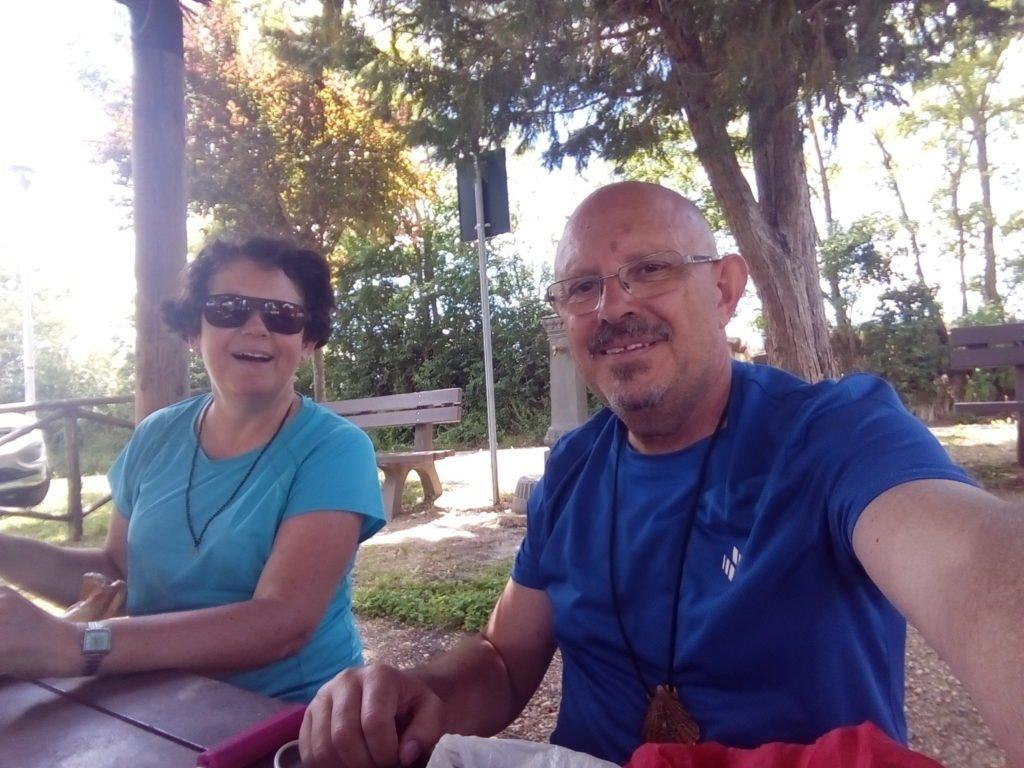 Un selfie con Tracy, cerca de Ponte D'Arbia